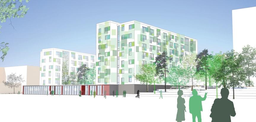 Förslag studentbostäder, KTH, Stockholm: SBC Bo och ETTELVA