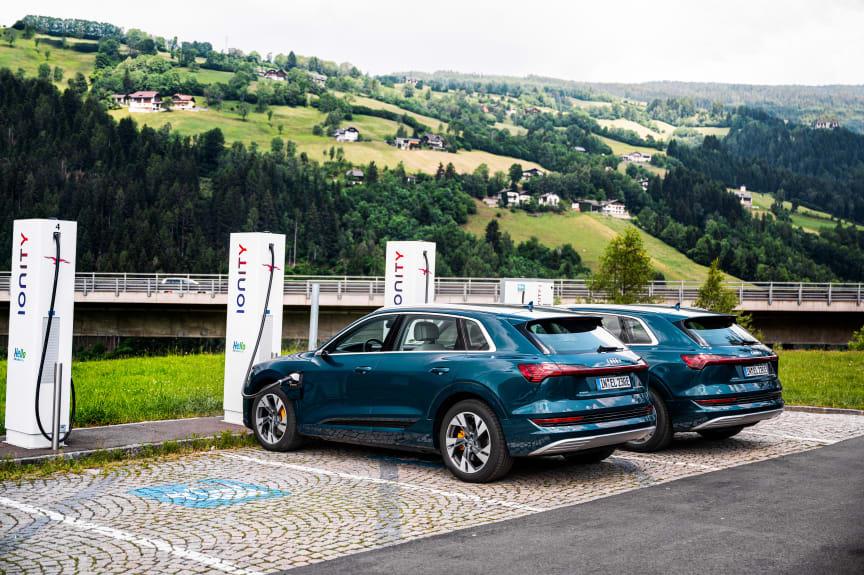 3x Audi e-tron 55 quattro på langturstest