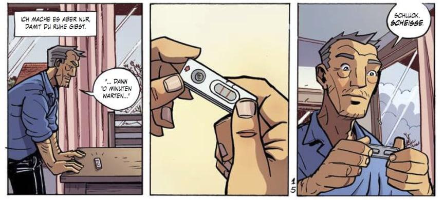 Dirk. Comic von Stop Darmkanker