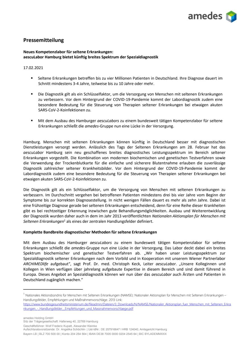 Pressemitteilung aescuLabor Seltene Erkrankungen - 17. Februar 2021.pdf