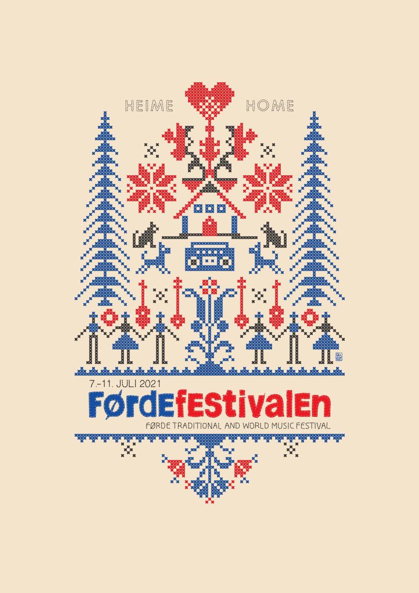 Førdefestivalen 2021 - plakat - Design: Piotr Pucylo