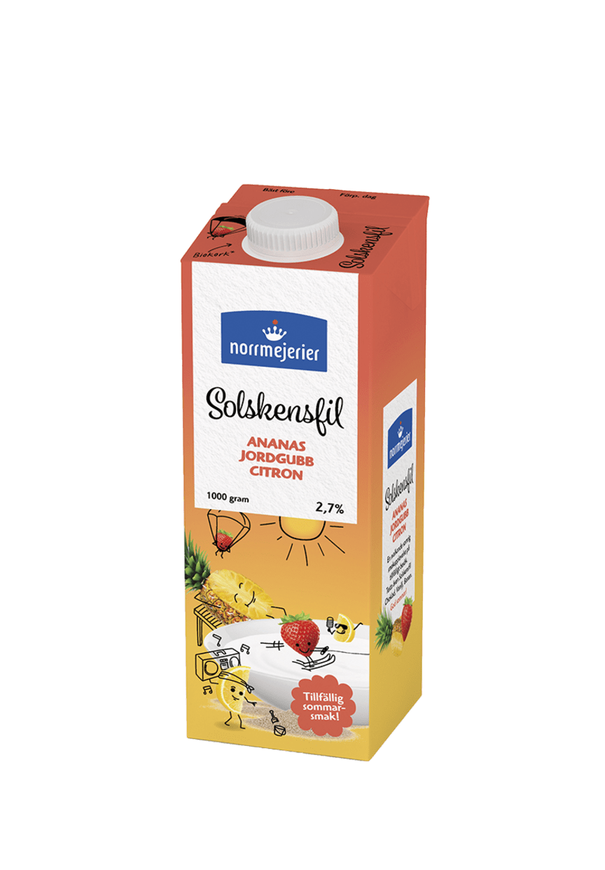 Norrmejerier Solskensfil - Ananas/Jordgubb/Citron