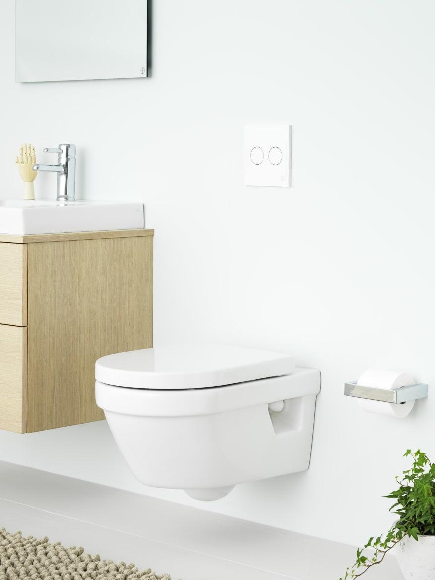 Hygienic Flush - vägghängd wc med öppen spolkant