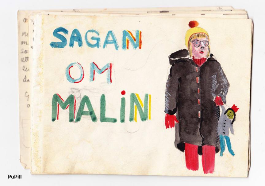 Sagan om Malin, sextiotals-verk av konstnären Åke Norlander, nu i ebokformat.