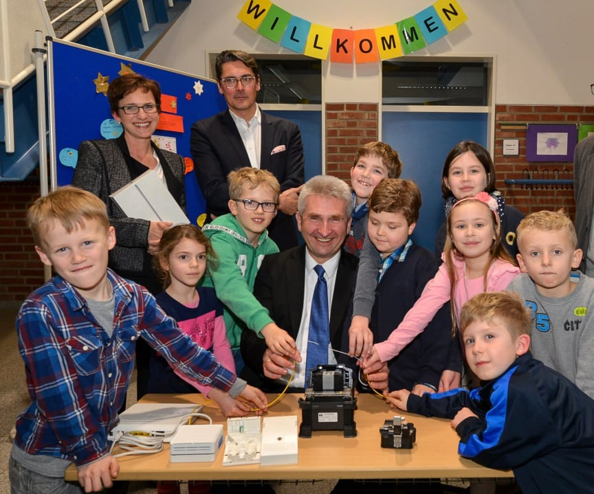 NRW-Minister Pinkwart in Brüggen