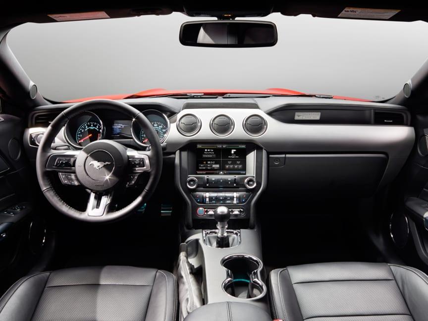Nye Ford Mustang - interiørbilde