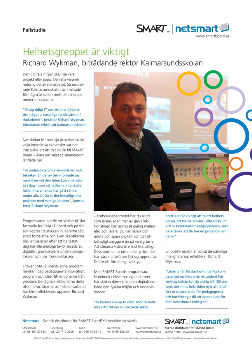 Helhetsgreppet viktig när Kalmarsundsskolan satsade på SMART Board