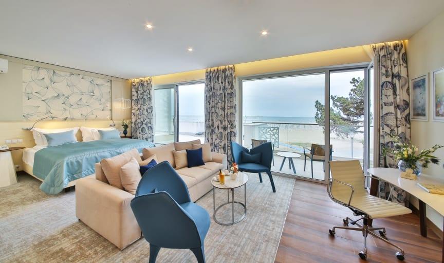 Hell, modern und freundlich: Die Zimmer im neuen Maritim Hotel Paradise Blue Albena.