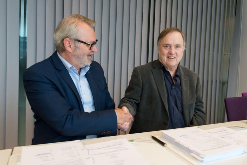 Fosen Vind signerer første anleggskontrakt med Johs. J. Syltern as
