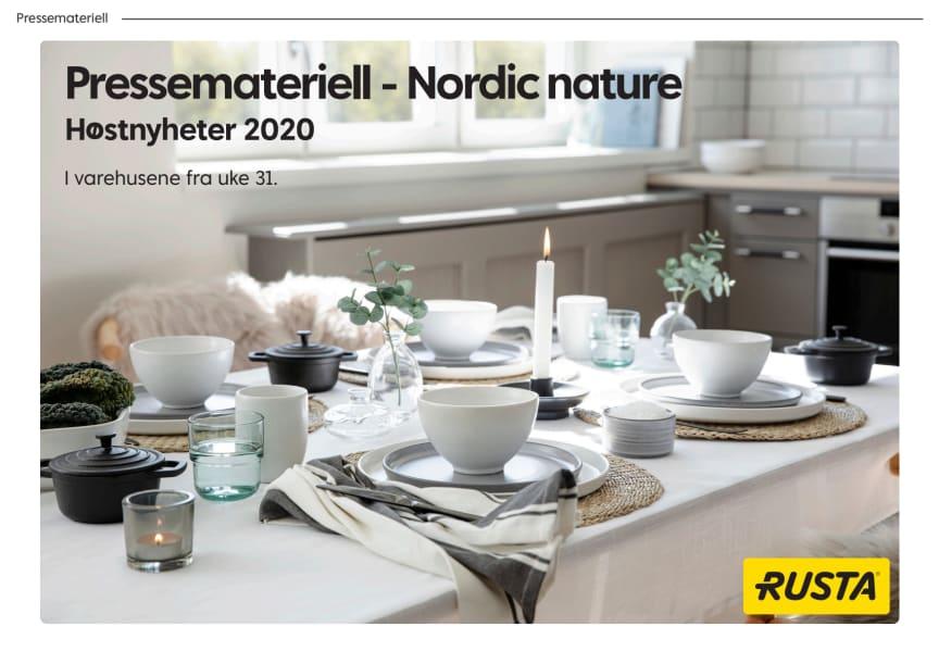 Pressemateriell Nordic Nature -  Høst 2020