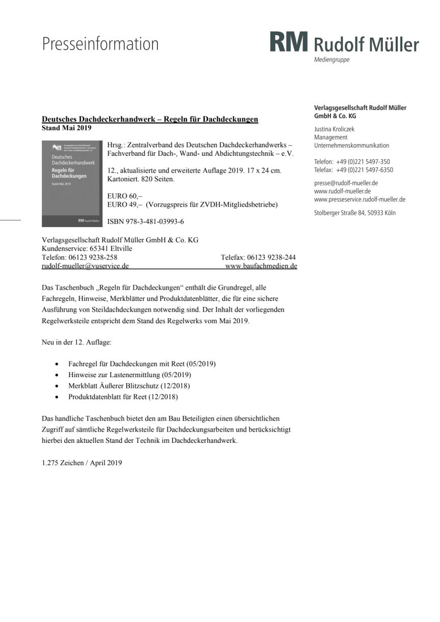 Regeln für Dachdeckungen