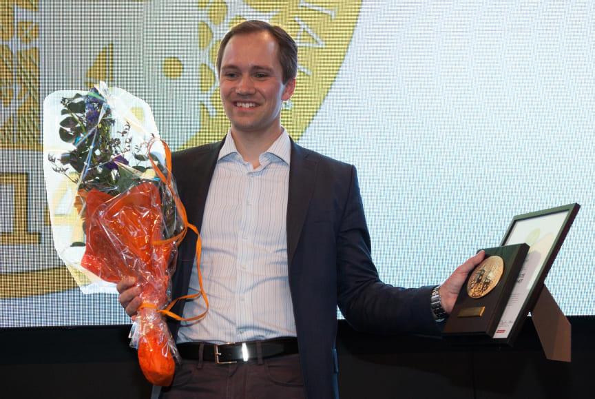 Vinnare av Guldmedaljen 2014, Mårten Hellberg, vd OrganoWood AB