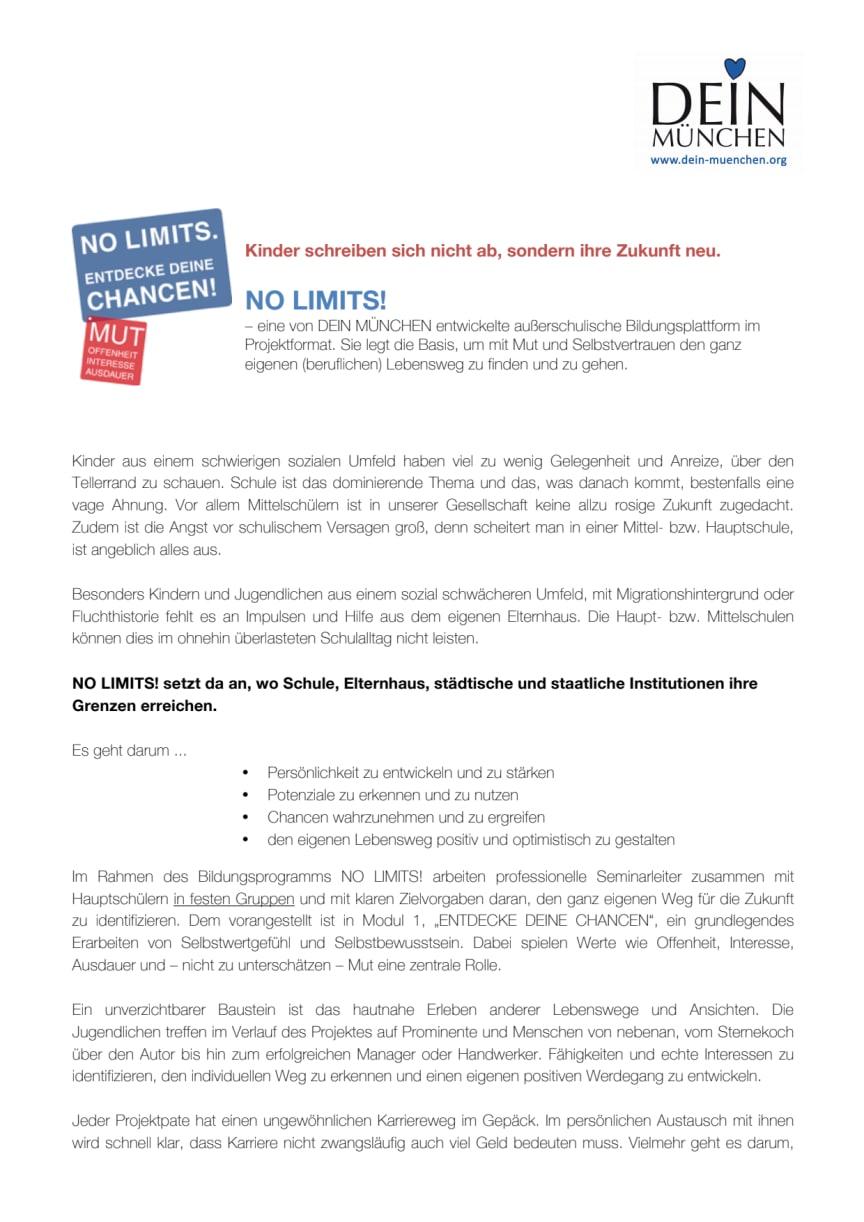 NO LIMITS: Ein Projekt von DEIN MÜNCHEN