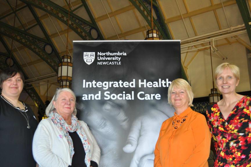 L-R: Jemma James, Sue Tiplady, Professor Glenda Cook and Dr Juliana Thompson