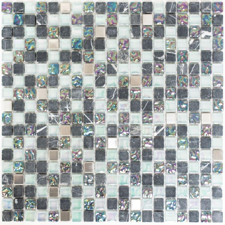 Mosaik Eventyr Den Lykkelige familie Sølv 30x30, 1.248 kr. M2.