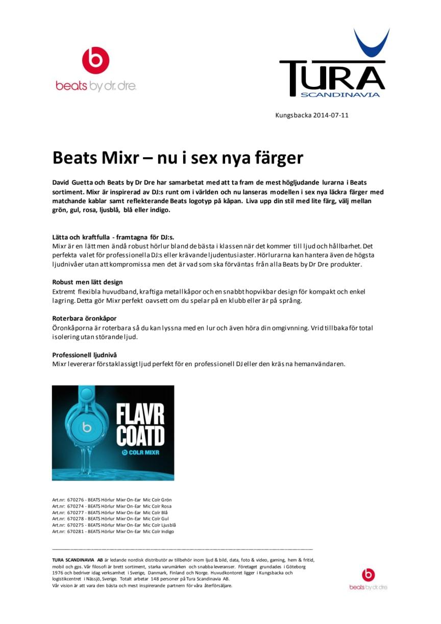 Beats MIXR – nu i sex nya färger