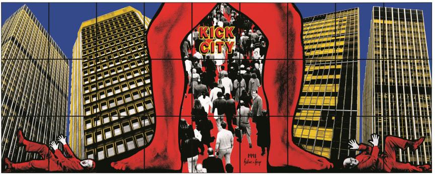 Gilbert & George,  KICK CITY, 1991