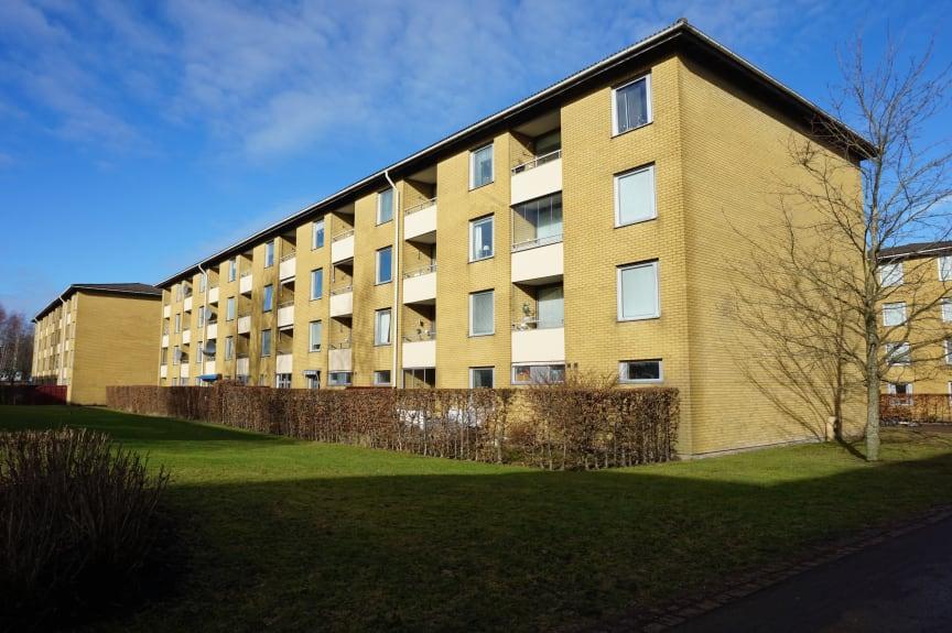 Brf Tuvehus 6, Göteborg, före inglasning av balkonger