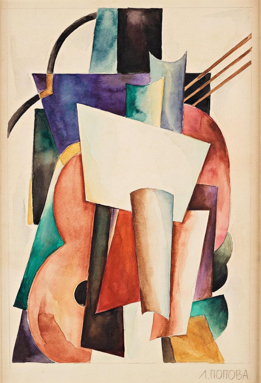 Liubov Sergeevna Popova (1889-1924), Arkitektonisk komposition III. Utrop 80 000 - 100 000 SEK.