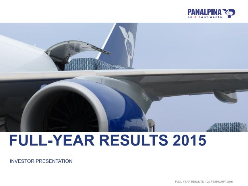 Full-Year Results 2015 – Investor Presentation