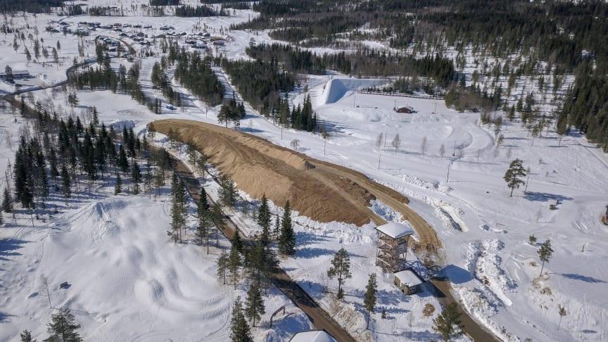 Lagrer 34 0000 kubikkmeter med snø