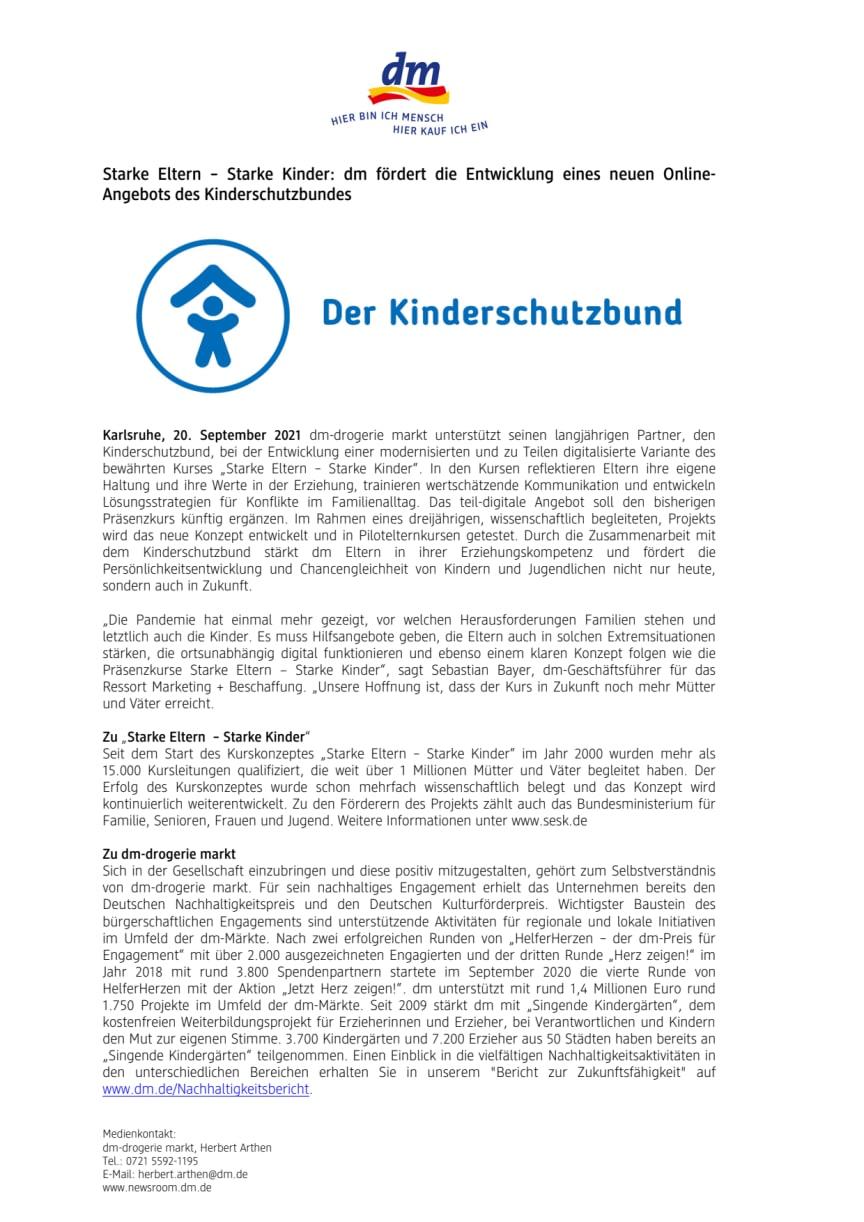 21-09-20 PM_Starke Eltern  Starke Kinder_dm fördert die Entwicklung eines neuen Online-Angebots des Kinderschutzbundes.pdf