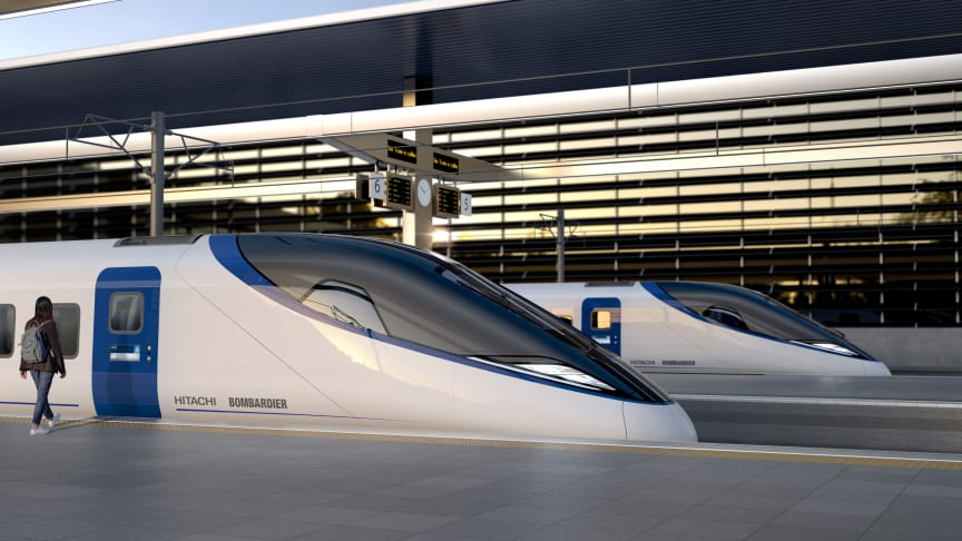 First image released of the proposed  HS2 Bombardier/ Hitachi design
