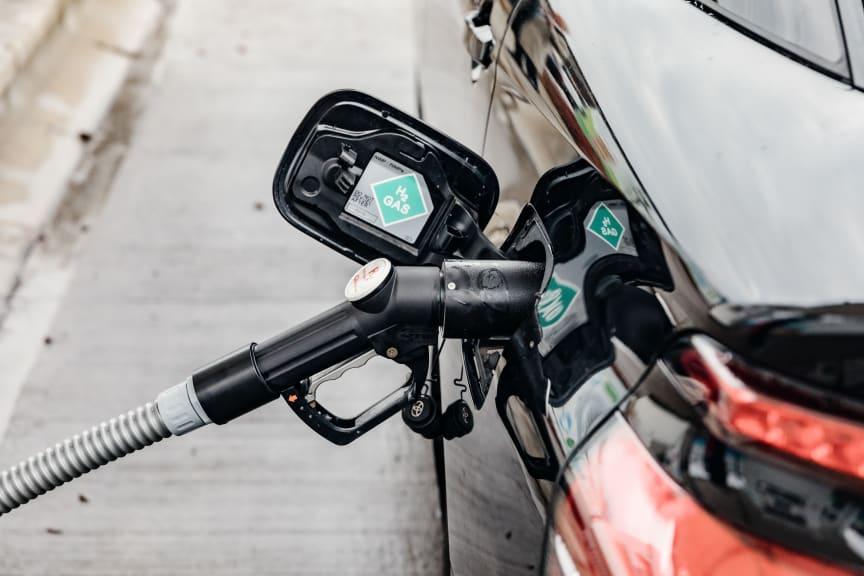 Betankung eines Wasserstoff-Pkw