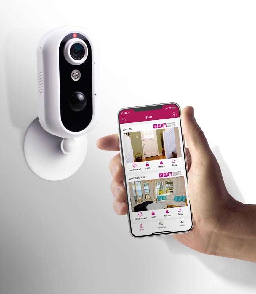 Övervakningskamera med WiFi och 4G