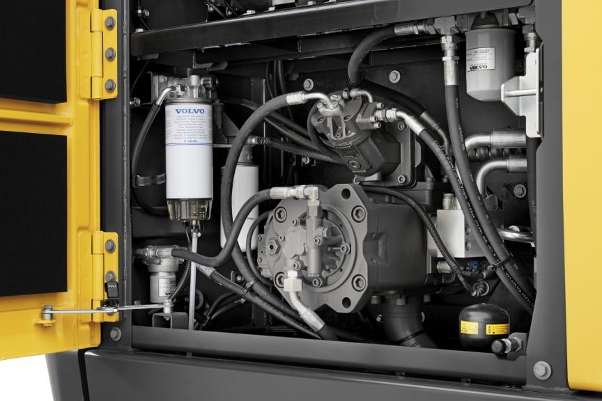 Volvo EC300E Hybrid - hydraulhjälpmotorer