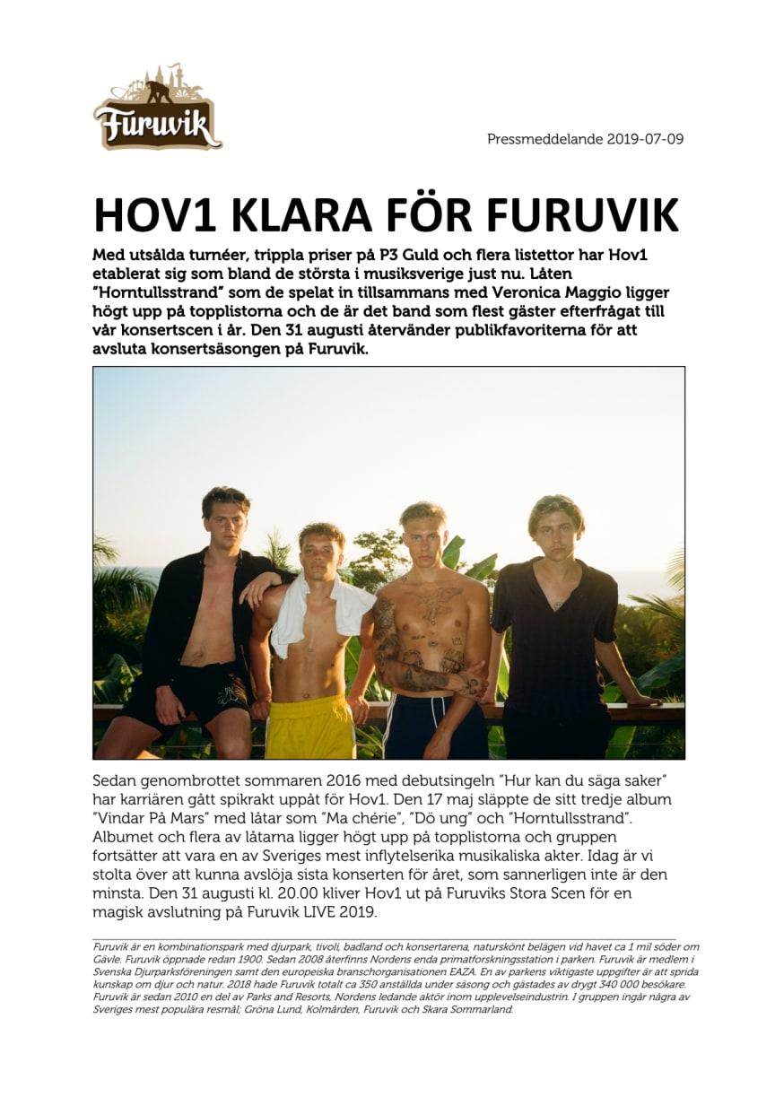 Hov1 klara för Furuvik