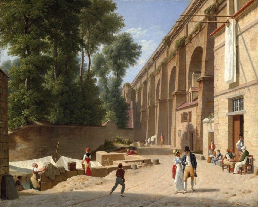 C.W. Eckersberg: The Aqueduct in Arcueil, 1812. Sold for DKK 5.6 million (€ 975,000 including buyer's premium)