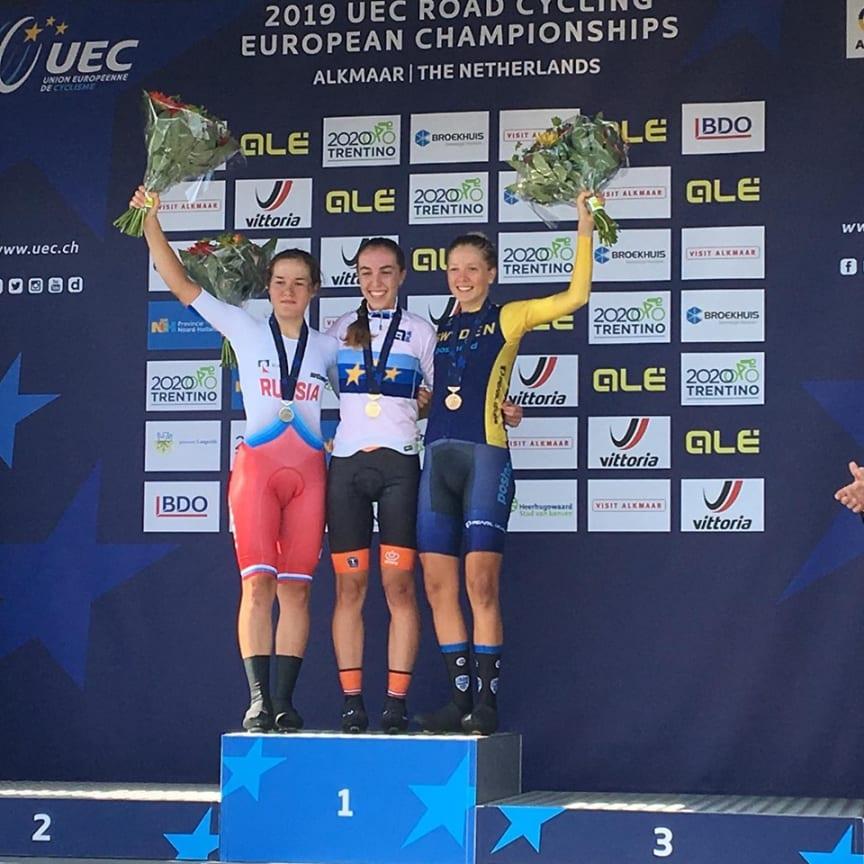 Wilma Olausson tog brons i EM tempo 2019