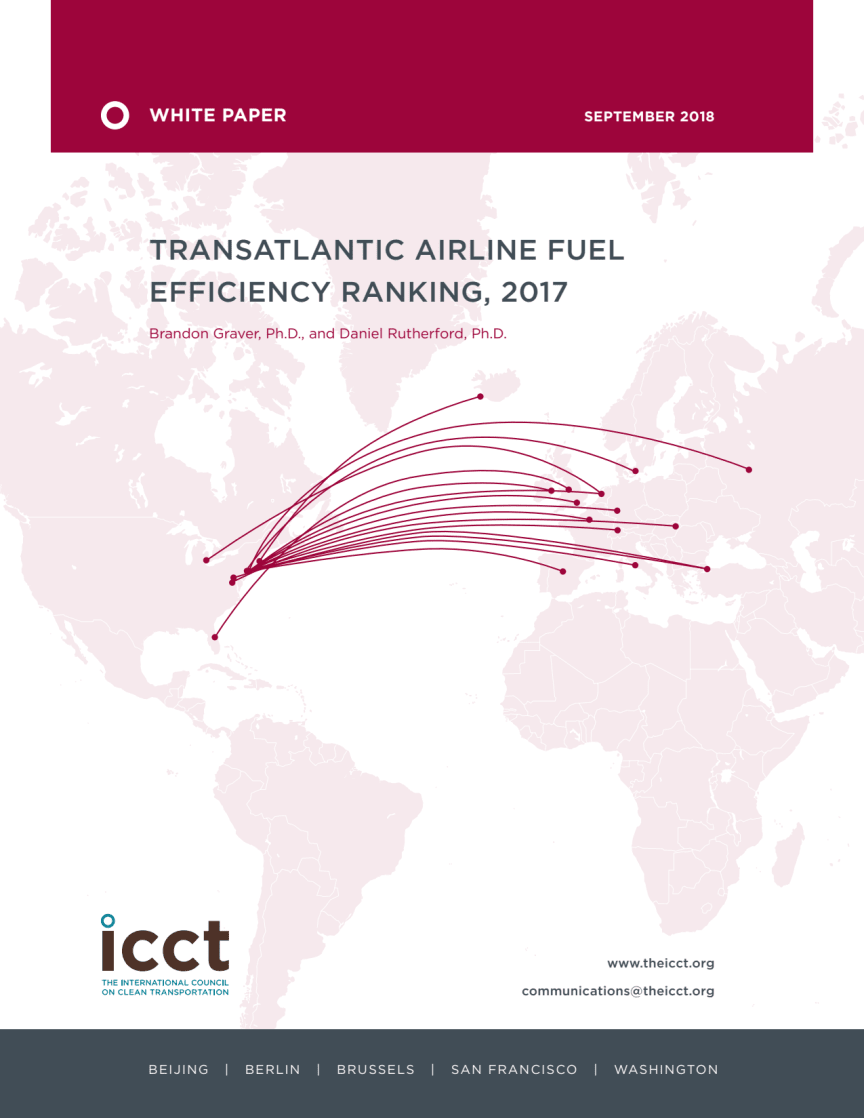 Transatlantic fuel efficiency ranking, 2017