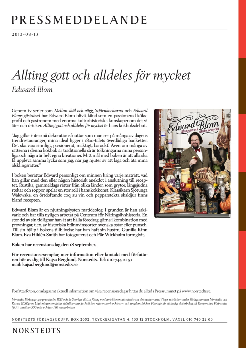 Edward Blom: Allting gott och alldeles för mycket