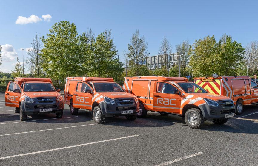 Line of 2020 RAC Heavy Duty patrol vans
