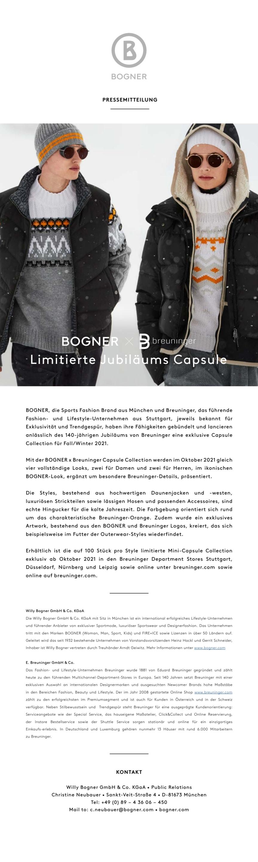 BOGNER x BREUNINGER: Limited Anniversary Capsule