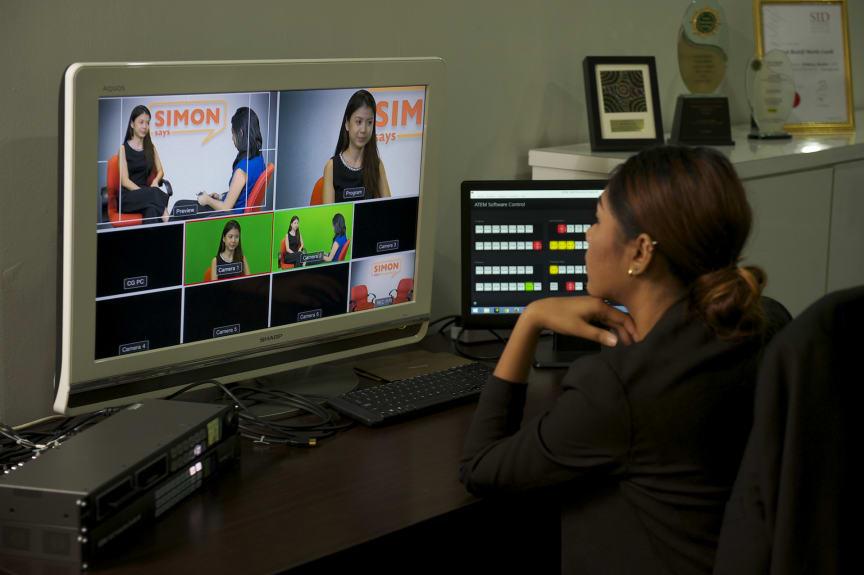 Live TV studio