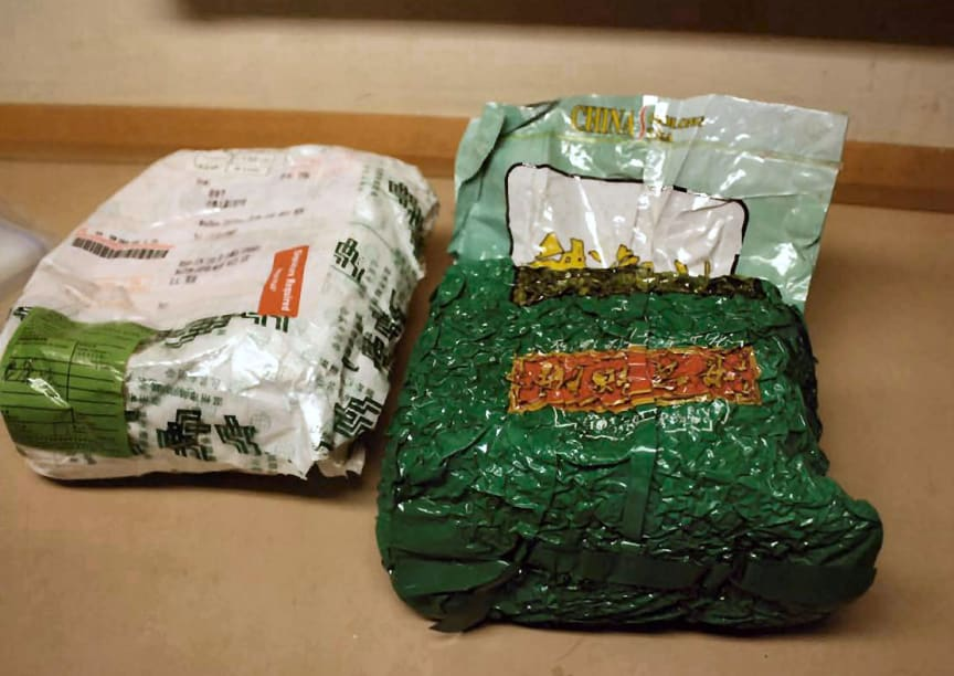 Operation Colubrid - Parcel and packet of 'China tea'