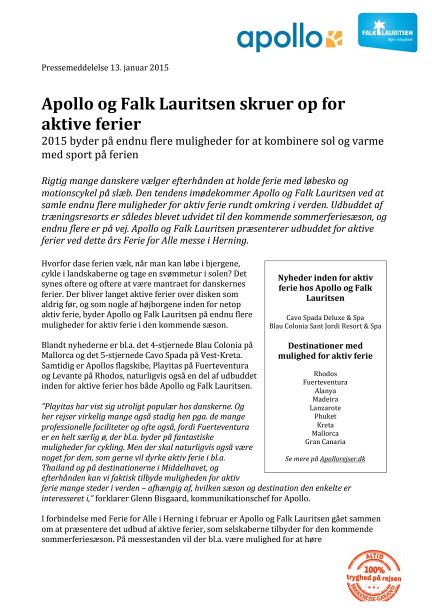 Apollo og Falk Lauritsen skruer op for aktive ferier