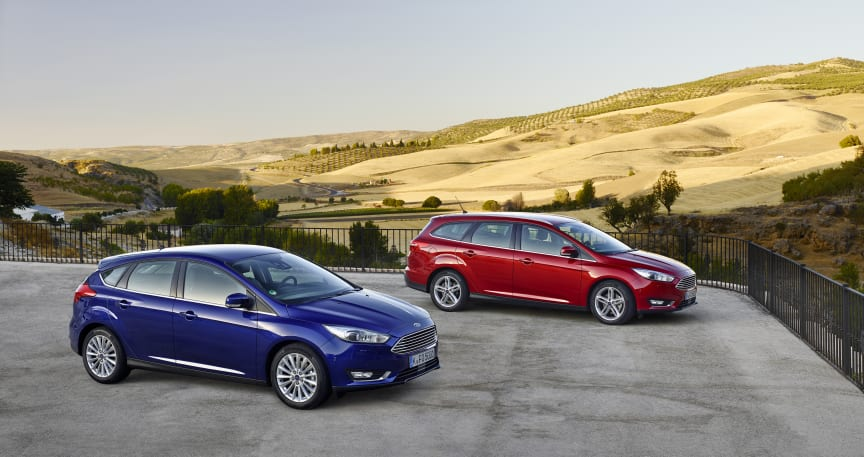 Nye Ford Focus, 5-dørs og stasjonsvogn