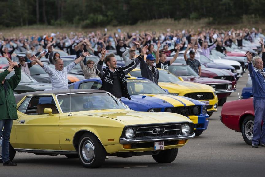 Mustang verdens største parade Lommel Belgia 2019