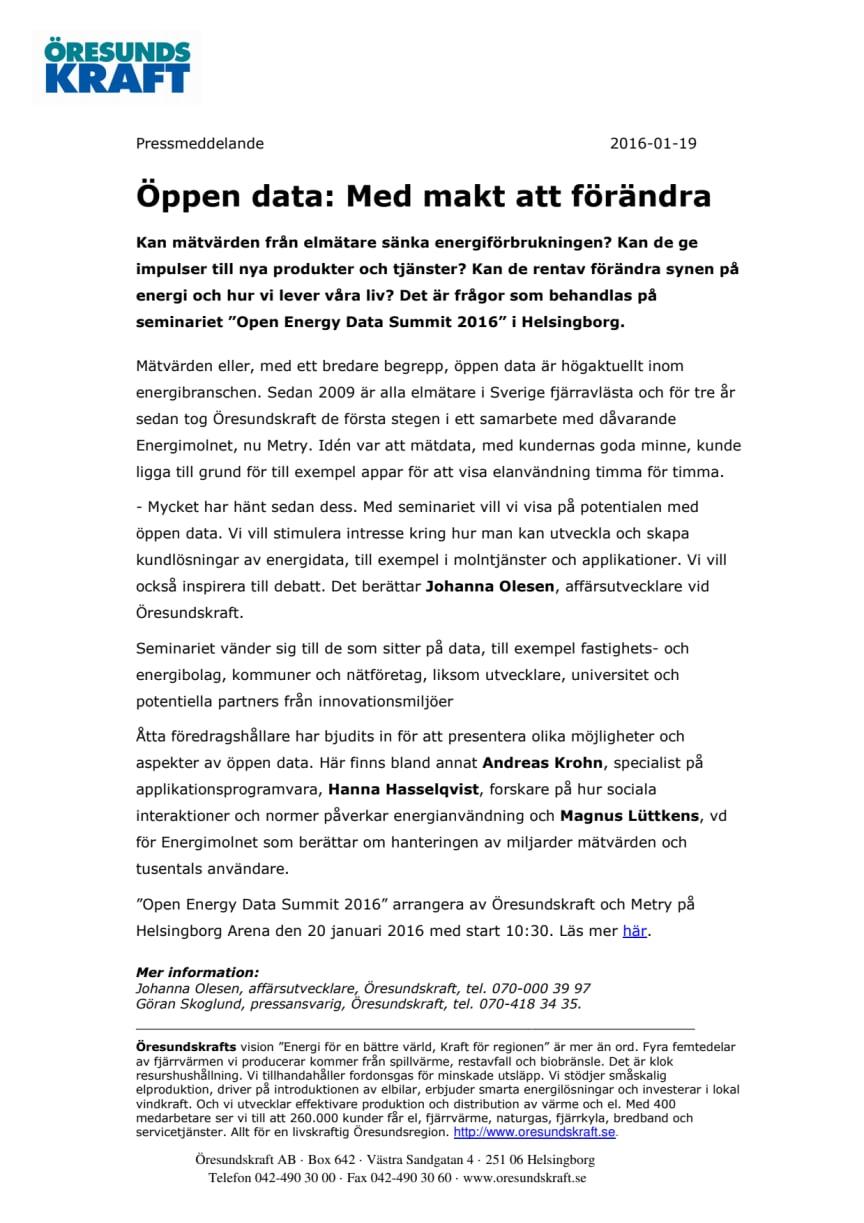 Öppen data: Med makt att förändra