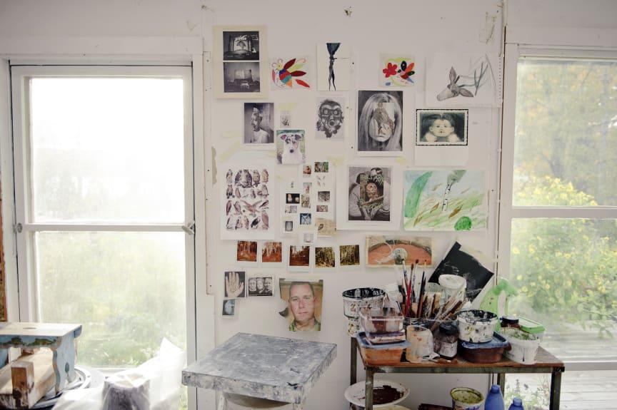 Klara Kristalova's studio. November 2011. Photo: Olle Kirchmeier/Bonniers Konsthall.