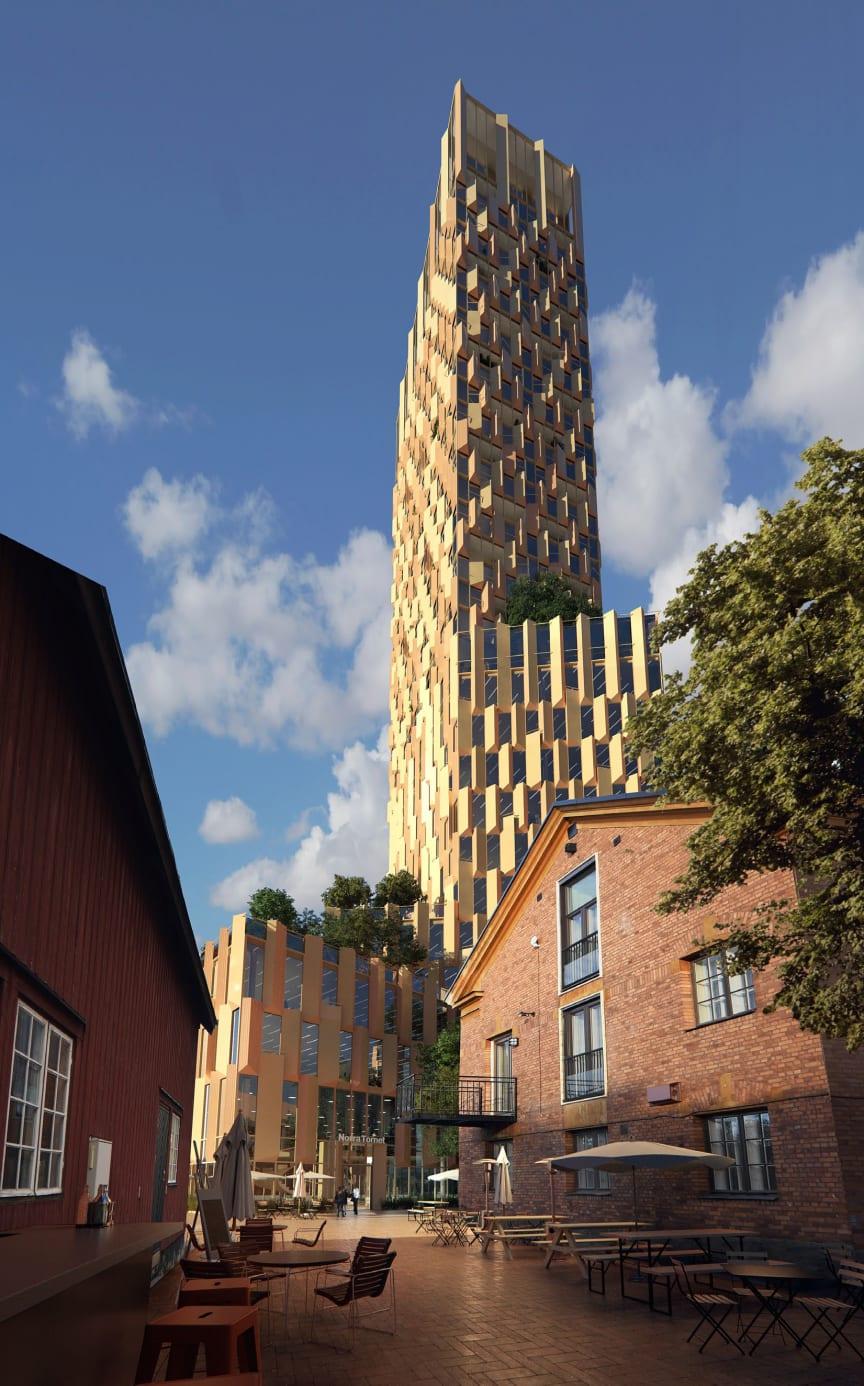 Arkitektskiss höghus