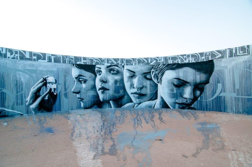 Christina Angelina - No Limit Street Art Borås