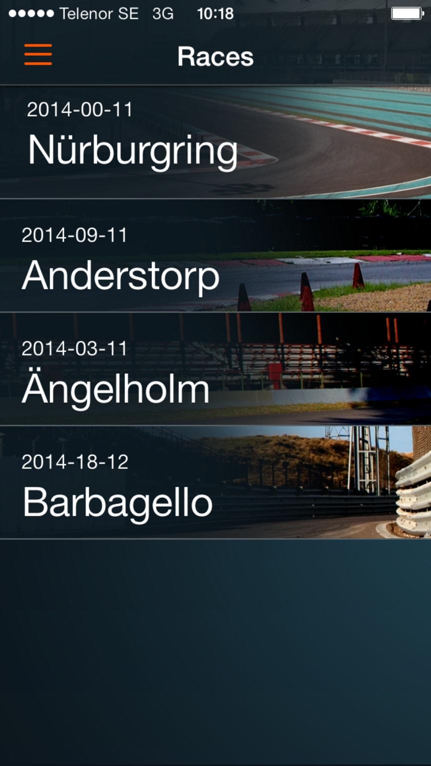 Koenigsegg One:1 app Races