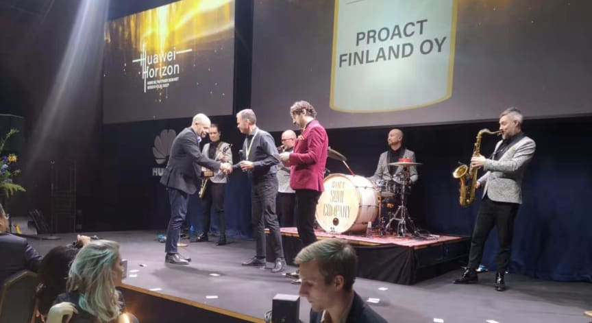 Proact Finland vinnare Gulddraken 2020 - Data Center Partner of the Year