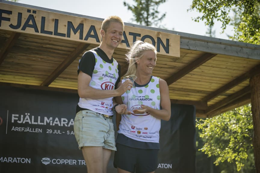 Jo Forseth Ingaard och Jennifer Asp dominerade i premiären av Tour de Fjällmaraton, de vann båda med god marginal både totalen och bergatävlingen.