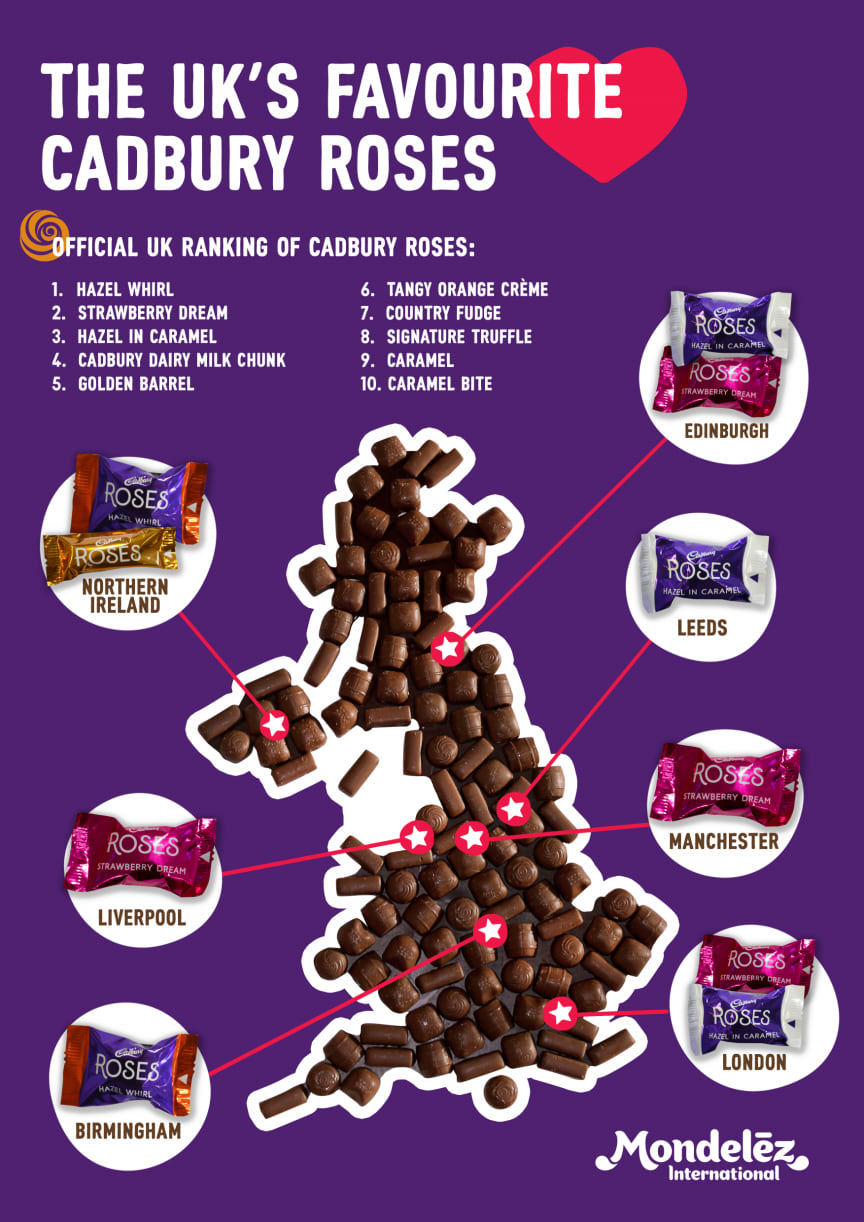 Chocolate map Roses UK wide